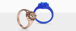 مدل انگشتر ساخته شده بوسیله پرینتر 3 بعدی