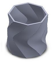 فایل سه بعدی ظرف دورانی برای پرینتر سه بعدی