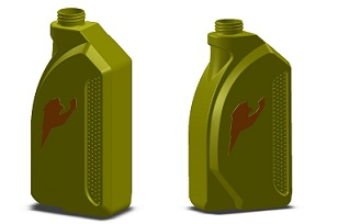 طراحی سه بعدی بطری روغن
