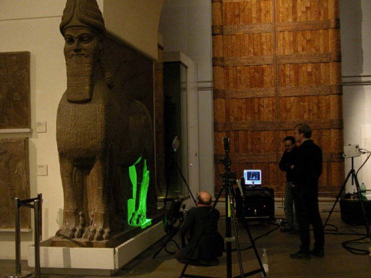 اسکن سه بعدی مجسمه باستانی