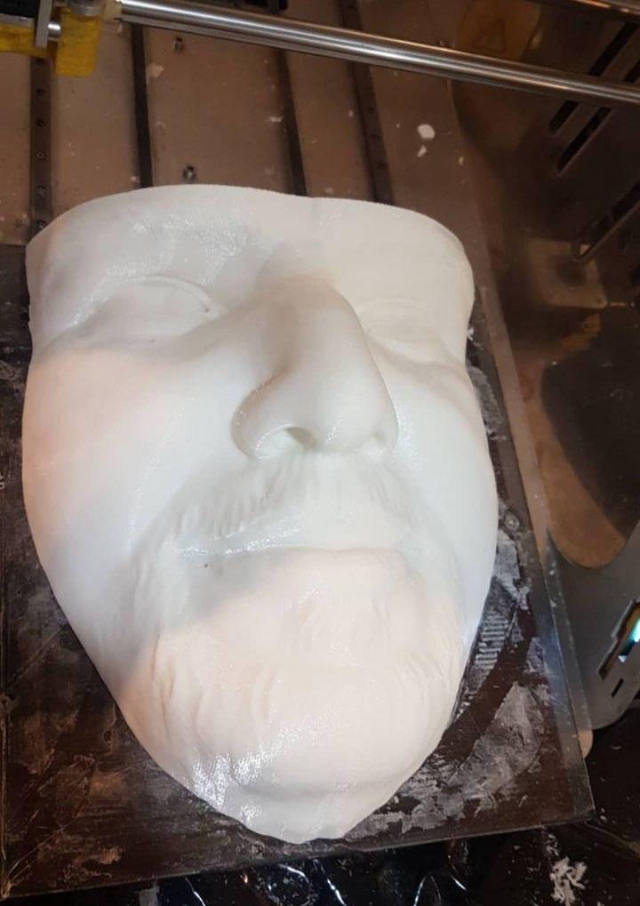 پرینت سه بعدی مجسمه سردیس