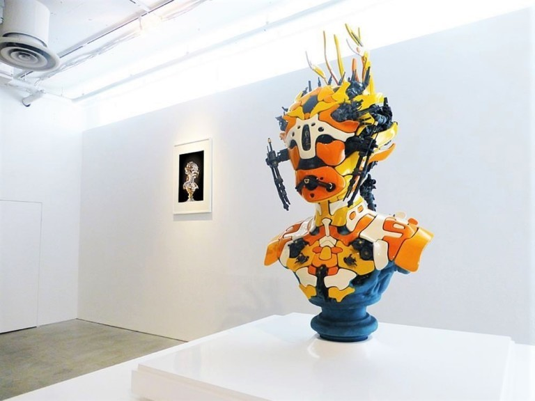 مجسمه سایبورگ (ترکیبی از اجزای ارگانیک و مکانیکی) هنرمند Nick Ervinck،منبع :اینستاگرام هنرمند /nick_ervinck
