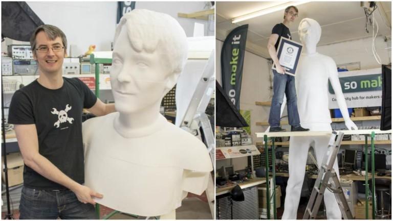 James Bruton بزرگترین مجسمه ی ساخته شده با پرینت سه بعدی جهان را پدید آوردمنبع:Guinness world Records